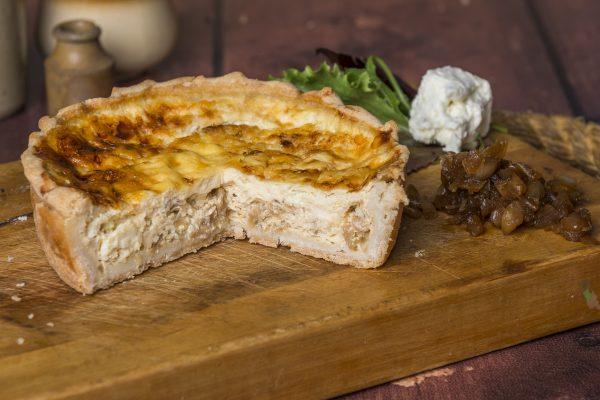 Medium Caramelised Onion and Feta Quiche (extra deep)