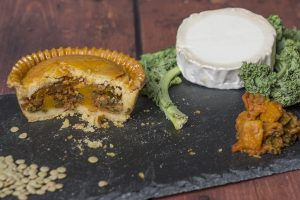 Lentil, Goats Cheese and Greens Pie